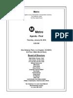Metro Board agenda, Jan. 2016