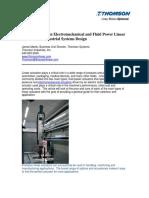 Choosing Between Electromechanical and Fluid Power Taen