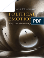 Martha Nussbaum Political Emotions Love Justice