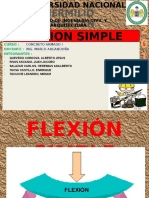 Flexion Simple - flecion