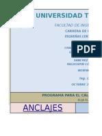 Anclajes y Soportes programa de seleccion de anclajes