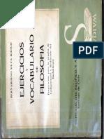 Ejercicios y Vocabulario de Filosofía - Bernardino Silva Riesco.