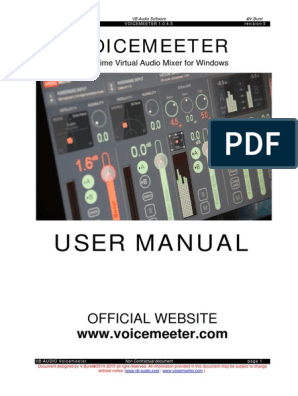 Voicemeeter_UserManual | Equalization (Audio) | Computer Network
