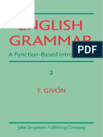 English Grammar - A Function-based Introduction. Volume II