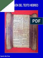 Breve Historia Del Texto Hebreo
