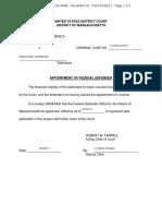 [Doc 26] 4-22-2013 Appointment of Fed Defender Tsarnaev