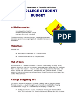 College Student Budget Mini