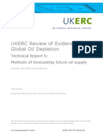 UKERC Review of Evidence for Global Oil Depletion- Technical Report 6- Methods of Forecasting Future Oil Supply