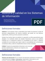Auditoria y Calidad en Los Sistemas de Información