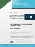 El feminismo socialista de Flora Tistán. Una aproximación a la sabiduría de una paria