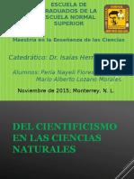 el cientificismo en las ciencias naturales