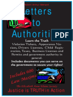 Letters to Authorities