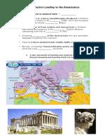 worksheet historical context leading to renaissance 9 november 2015 student copy