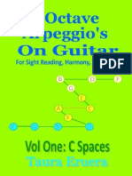 Guitar Music Reading 3 Octave Arpeggios