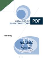 CATÁLOGO DE ESPECTROFOTOMETROS