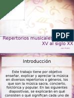 Repertorios Musicales Del Siglo XV Hasta El Siglo XX