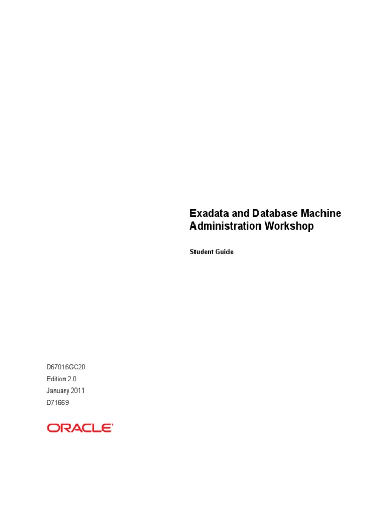 exadata workshop part1 oracle database cache computing rh scribd com exadata database machine administration workshop student guide pdf