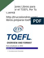 Los Mejores Libros Para Preparar El TOEFL Por Tu Cuenta