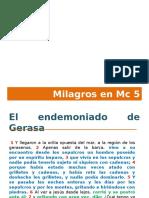 3. Milagros en Mc 5