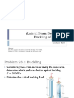 LECTURE 28 - Buckling of Columns