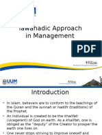 lecture on tawahadic approach in management