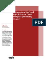 Pwc Pharma Deals Insight q2 2015