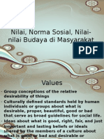 Nilai, Norma Sosial Nilai Budaya
