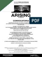ARISING - Convocatoria