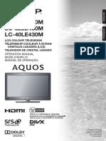 Sharp Aquos TV LE430M Series