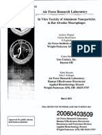 Air  Force  Research  Laboratory In  Vitro  Toxicity  of  Aluminum  Nanoparticles in  Rat  Alveolar  Macrophages