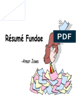 Resume Fundaes