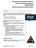 Scaffolds Checklist