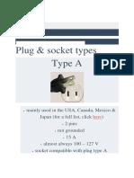 Plug & Socket Types - World Standards