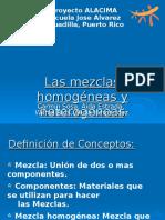 II - Las Mezclas Homogeneas y Heterogeneas