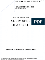 BS 3551 Alloy Steel Shackles