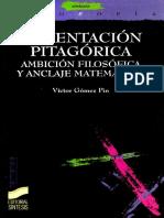 La Tentacion Pitagorica - Ambicion Filosofica y Anclaje Matematico