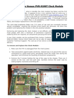 Humax 9200T - Replacing the Clock Module