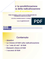 Presentazione della RAN CoE in Italiano - Radicalisation Awareness Network