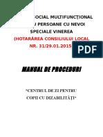 Manual de Proceduri Czd Cu Modificari Viorica