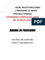 Manual de Proceduri Czd Cu Modificari Viorica