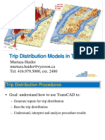 Trip Distribution Models TransCAD-1