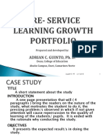 Pre-service Learning Growth Portfolio