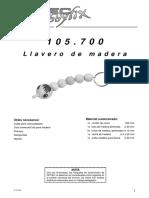 Llavero de Madera - 105700bm
