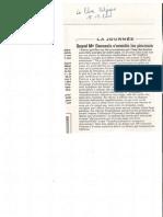 Affaire Dutroux - Monseigneur Danneels parle de réseaux pédophiles