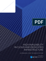 High Availability in Cloud and Dedicated Infrastructure White Paper