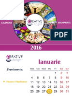 Calendar Evenimente Creative Bright 2016