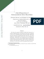 Anti Evaporation of Schwarzschild de Sitter Black Holes