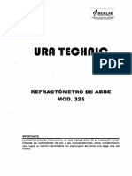 Manual Refractometro Abbe Mod 325