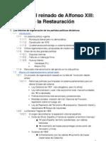 Tema 12 El reinado del Alfonso XIII y la crisis de la restauración