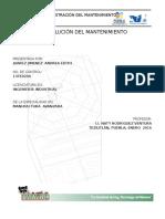 Evol. Mtto. Juarez Jimenez Andrea 13te0200